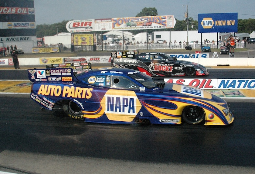 Ron Capps beat his racing stable mate Matt Hagan in yet another all Mopar & DSR  fuel FC final round.