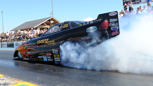 Larry Dobbs hopes to successfully defend his 2012 NDRA Alcohol Funny Car title