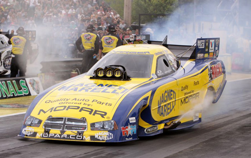 Matt Hagan extended his points lead in NHRA fuel FC with his 4th win of 2013