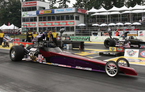 Al Hampton (Surrey BC) had a very strong finish in Super Comp -- he went to the final four in the 8.90 category.