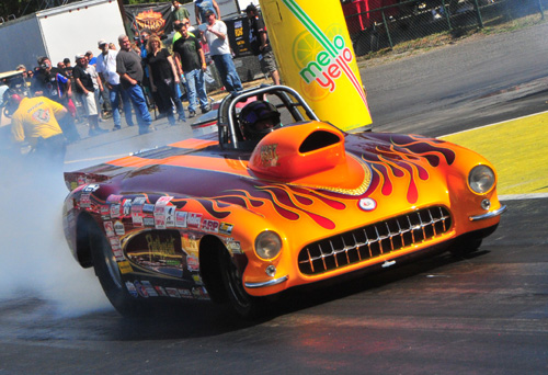 Victoria BC's Ed Hutchinson won his first career NHRA National event driving his cool '57 Corvette roadster