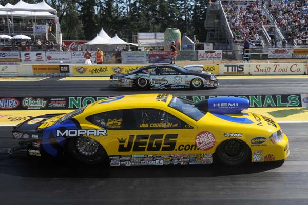 For the 3rd consecutive NHRA event - the Pro Stock final was all Mopar with Vince Nobile (far lane) defeating Jeg Coughlin at Seattle