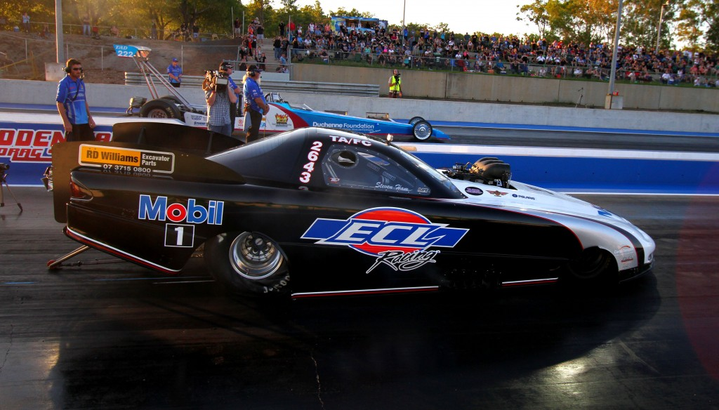 Steve Ham won the first ever ANDRA Top Alcohol event held in Darwin NT Australia