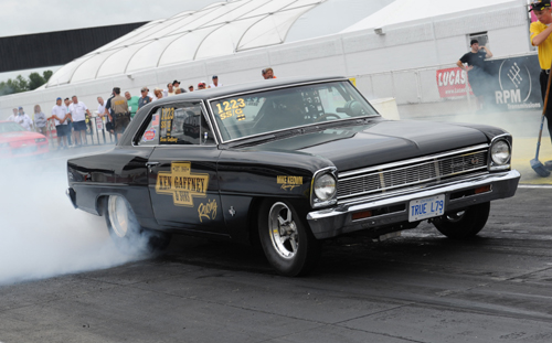 Rockland Ontario's Sean Gaffney turned heads in Super Stock with his meticulous SS Nova which qualified at .715 under the index.