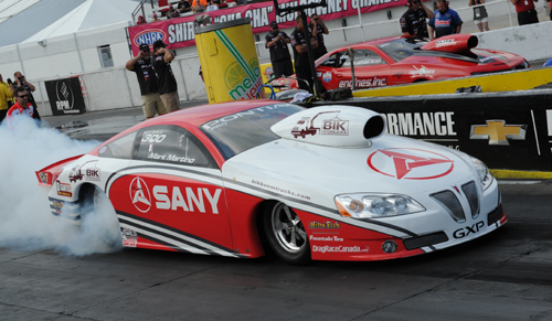 Ontario's Mark Martino qualified #9 in Pro Stock (6.661 secs) but some tire shake in round one resulted in a lost to Allen Johnson.