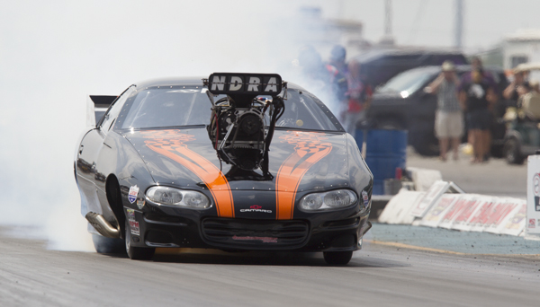 Dave Earhart's wickedly cool supercharged Camaro is the 2013 NDRA points champion.