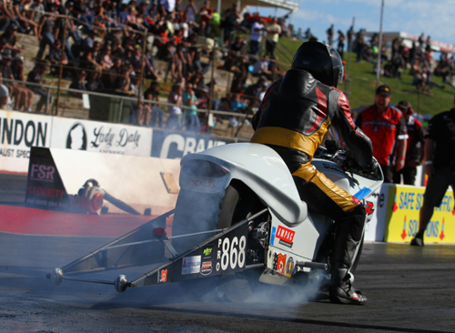 Pro Stock Motorcycle produced a 1st time winner - Scott White from Darwin NT