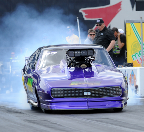Von Smith roared to victory in the event's highly competitive Pro Mod Series