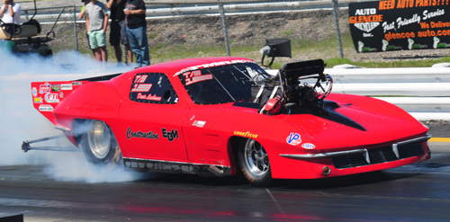 Denis Lachance entered his Corvette in both Top Sportsman and Pro Modified  this past summer.
