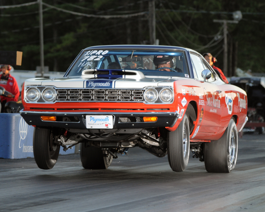 PEI's Bruce Howatt ran his remarkable Sox & Martin tribute car to the Hot Rod class final round.