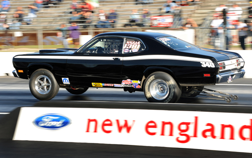 Mark Howes won in Top Stock during NHRA's Inaugural New England Hot Rod Reunion event.