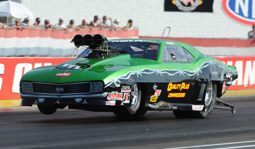 Whitby's Eric Latino entered his 3rd career NHRA nationals and qualified the GESI/Quality Plus Compressors Camaro #13 for Pro Mod at 6.070 secs