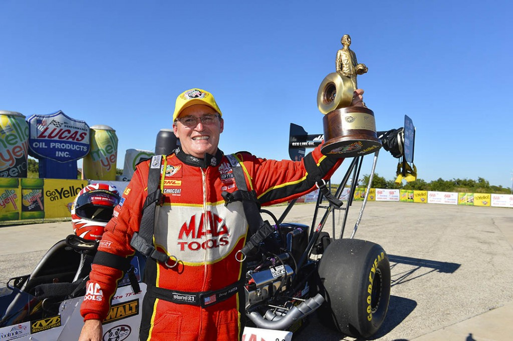 Doug Kalitta ended a long winless drought in Top Fuel racing the Mac Tools-sponsored dragster