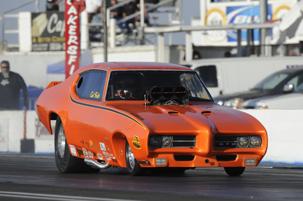 """Cal Tebb was the top finishing Canadian FC overall -- wheeling his GTO to the semi final round in the 7.0 """"B"""" event."""