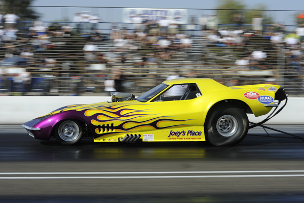 Edmonton's Joey Steckler brought his show-stopping '69 Corvette down from Alberta and qualified #11 in the 7.0 secs index category.