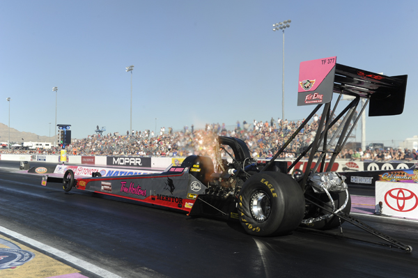 Some big Canadian news at  NHRA Las Vegas was Paul Noakes debut in Top Fuel.  His best run was a very decent 4.017 secs at 310.63 mph - but that missed qualifying.