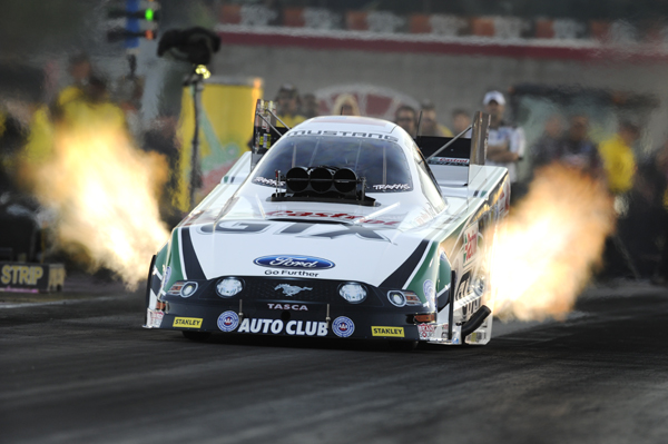 John Force's win at Las Vegas included low ET of the event at a track record 4.011 secs