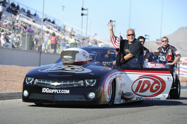 Rickie Smith - who clinched the 2013 NHRA Championship one race earlier - lost in round #2 at Las Vegas