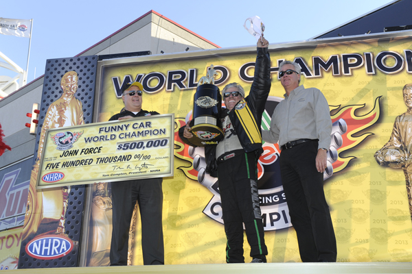 John Force has secured his 16th career NHRA World Championship.