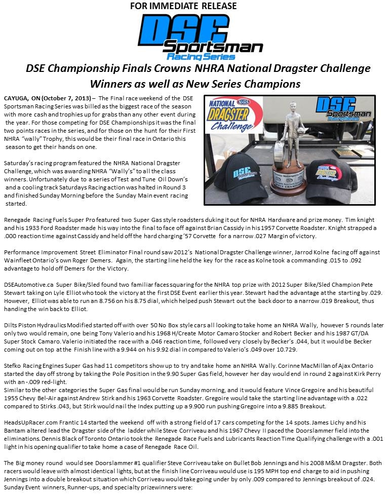 DSE Championship Finals Crowns New Series Champions