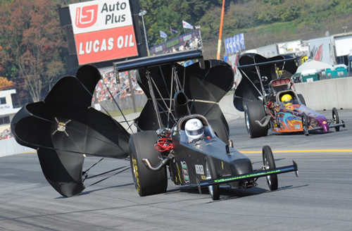 Pennsylvania-based driver Al Moeser was behind the wheel of Daniel Mercier's 2nd TAD car at Maple Grove but that team's best run of 5.631 secs missed the cut.