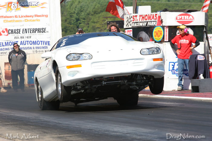 Jeff Vance proves that St.Thomas Raceway Park is hooking hard again!