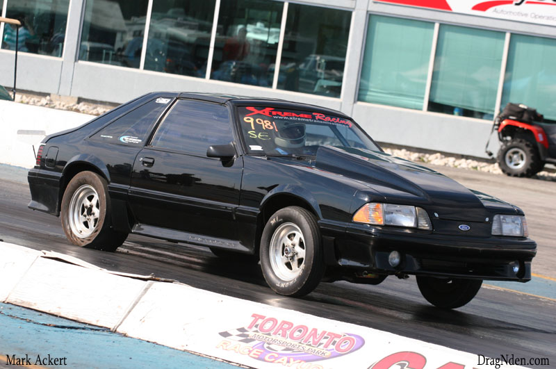 Tony Nicoletti put his 87 Mustang in the winners circle of Street Eliminator during the OSCA's final day of racing this season.