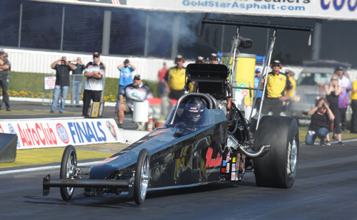 "Canada's ""comeback kid"" Shawn Cowie suffered a super narrow 5.394 to 5.391 secs round one defeat to eventual winner Johnny Ahten."