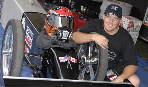 Quebec's Daniel Mercier - one of Canada's most skilled drag racers - recently upgraded his license for Top Fuel.