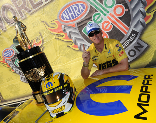 Jeg Coughlin has given the Mopar brand it's second consecutive NHRA Pro Stock championship.