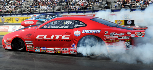 Rickie Jones scored his first career win in NHRA 500 CID Pro Stock class racing.