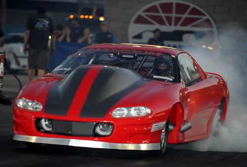 Eastern Canadian Outlaw 10.5 star racer Nick Agustino qualified #1 and set low ET at 6.262 secs.