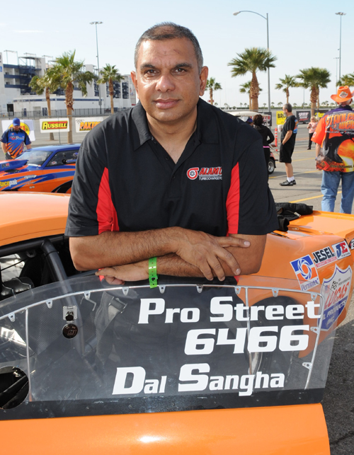 Dal Sanga (from Surrey BC) entered his spectacular 2010 Pro Street Mustang and went a best of 6.446 secs at 224.47 mph.