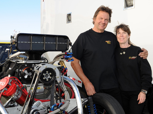 """Really great to see recent """"world travellers"""" Glen and Cindy Kerunsky (from Alberta) back in the Pro Mod class mix!"""