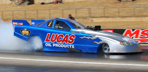 Driving his Lucas Oil Chevy - Gary Phillips won again in Top Alcohol class racing.