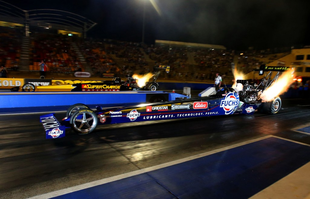 Phil Lamattina set both low ET and top speed of the event at 4.715 secs & 325.61 mph.