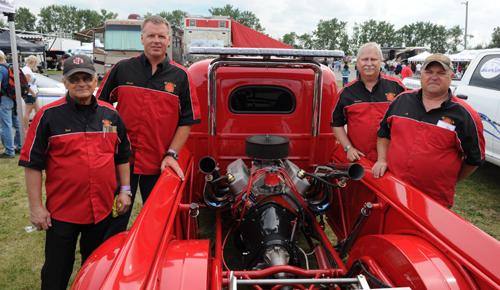 The Camrose Firefighters drag racing project is a community effort.