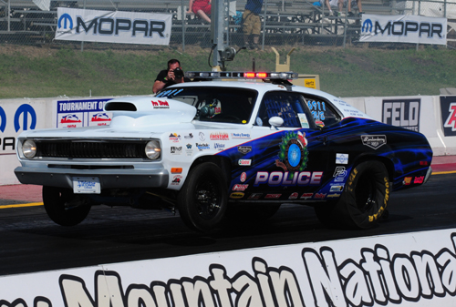 First introduced in 1997 - this 1972 Plymouth Duster kicked off the Blue Line Racing initiative.