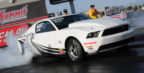 Darrell Dietz's Mustang is one of a number of new late model machines being introduced within Canadian drag racing/