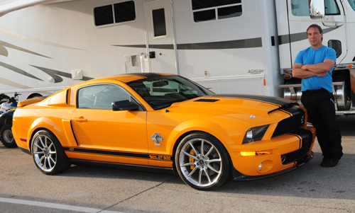 "Darrell Dietz also owns this ""super snake"" version Mustang street car."