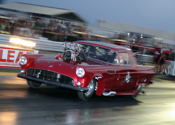Prior to racing his Nostalgia FC - Doug Cadman campaigned this ultra cool supercharged '55 T-Bird