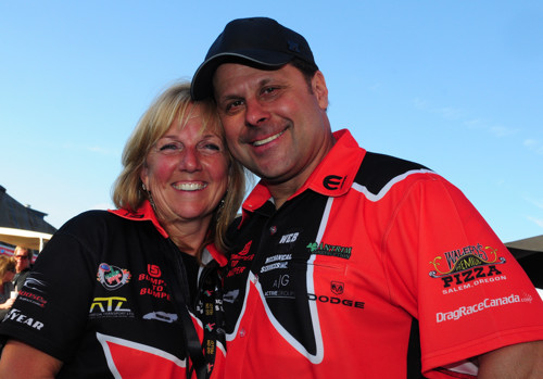 Canada's Liz & Todd Lesenko - two of NHRA drag racing's more popular new comers have announced a temporary stay from drag racing for 2014.