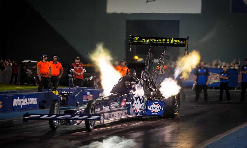 Phil Lamattina set both low ET 4.632 secs and top speed 526.68 KMPH while dominating ANDRA's season opening TF event.