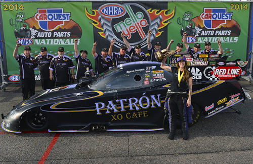 Alexis DeJoria became NHRA drag racing's 14th female Pro winner during the Carquest Arizona Nationals.