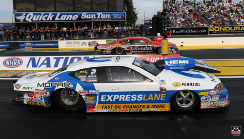 The Pro Stock final was all Mopar - with Allen Johnson defeating V. Gaines