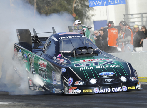 John Force's 139th career victory came in record setting fashion.