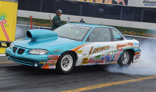 Regina's Abe Loewen - who has enjoyed great success at Pomona over the years - lost out in round #3 of Super Stock.