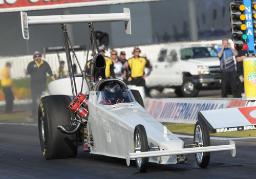Alberta's Don St. Arnaud enjoyed his finest hour yet in NHRA national event competition.  He had a superb runner-up finish in TAD and set top mph for the class at 278.58 mph