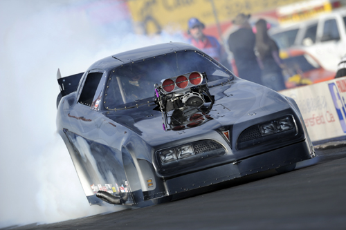 Tim & Nancy Nemeth entered their awesome Firebird from BC and qualified 5th (5.733 secs) before losing out in round #2