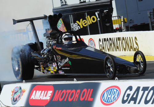 Quebec's Bill Moloughney entered the Top Dragster class as GV - but lost out in round #1.